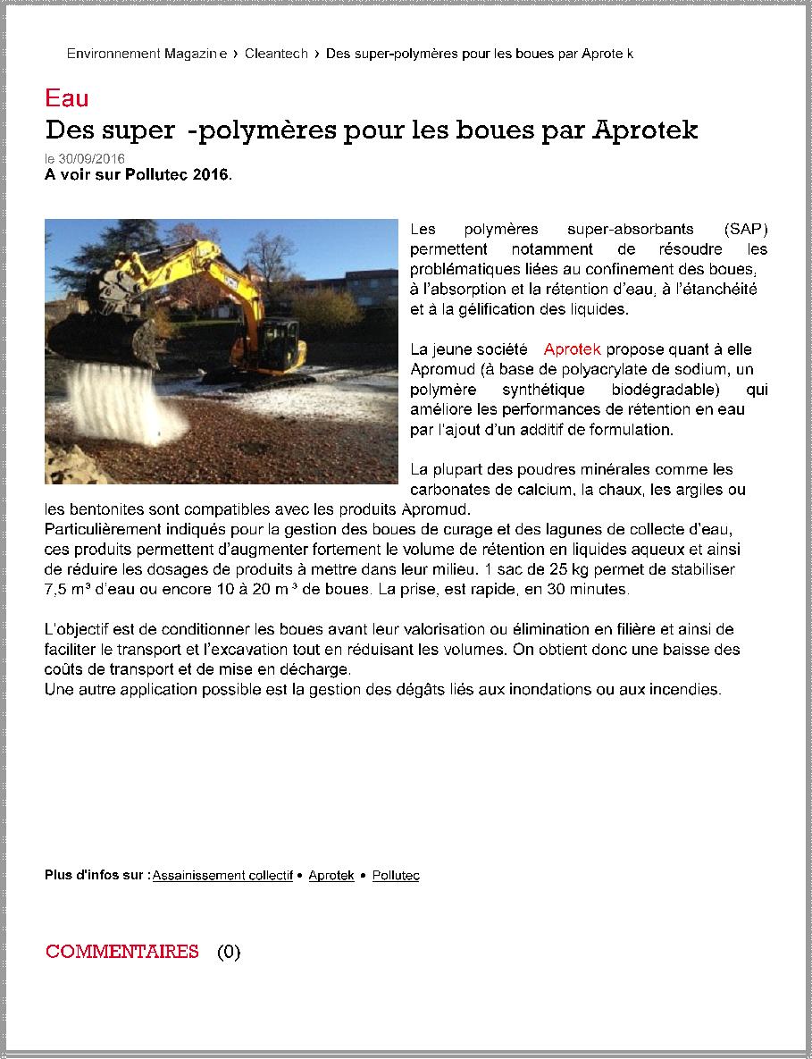 environnement-magazine-des-super-polymeres-pour-les-boues-par-aprotek-pollutec